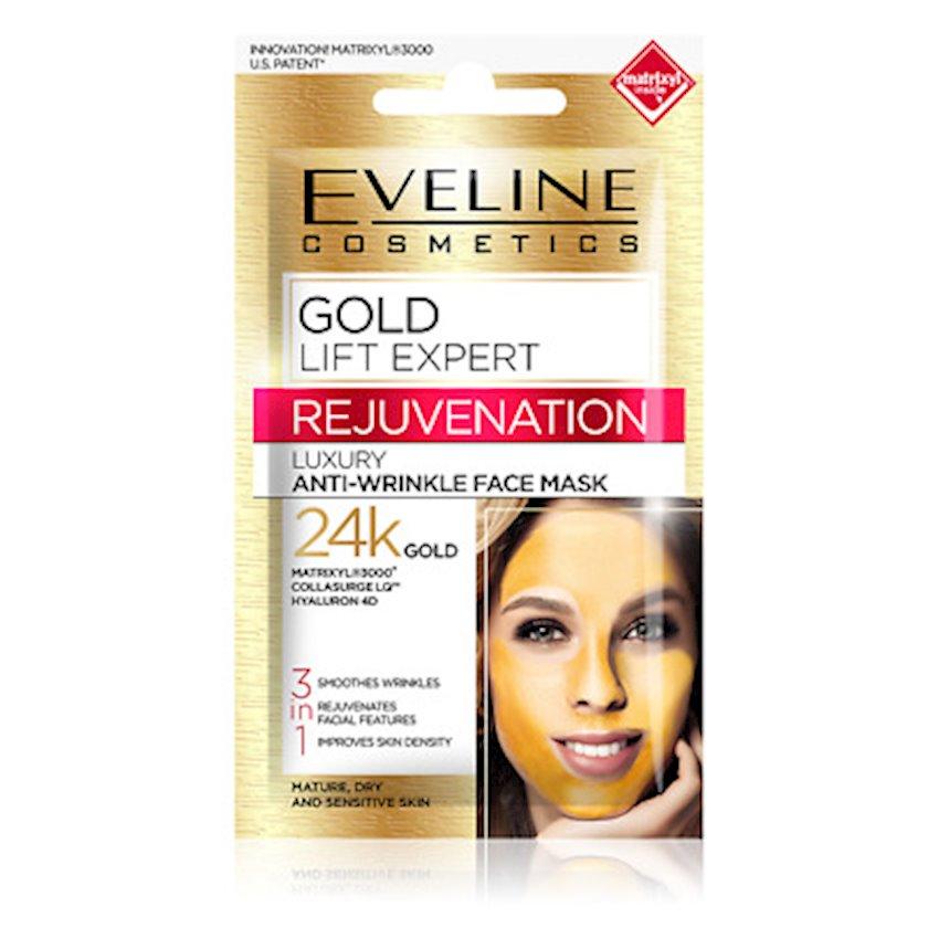 Xüsusi cavanlaşdırıcı maska Eveline Cosmetics Gold Lift Expert 3ü 1də