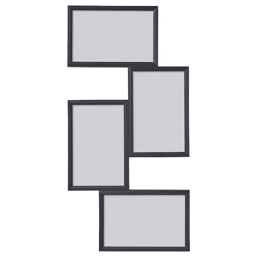 4 şəkil kollajı üçün çərçivə Ikea Yllevad, qara, 21x41sm