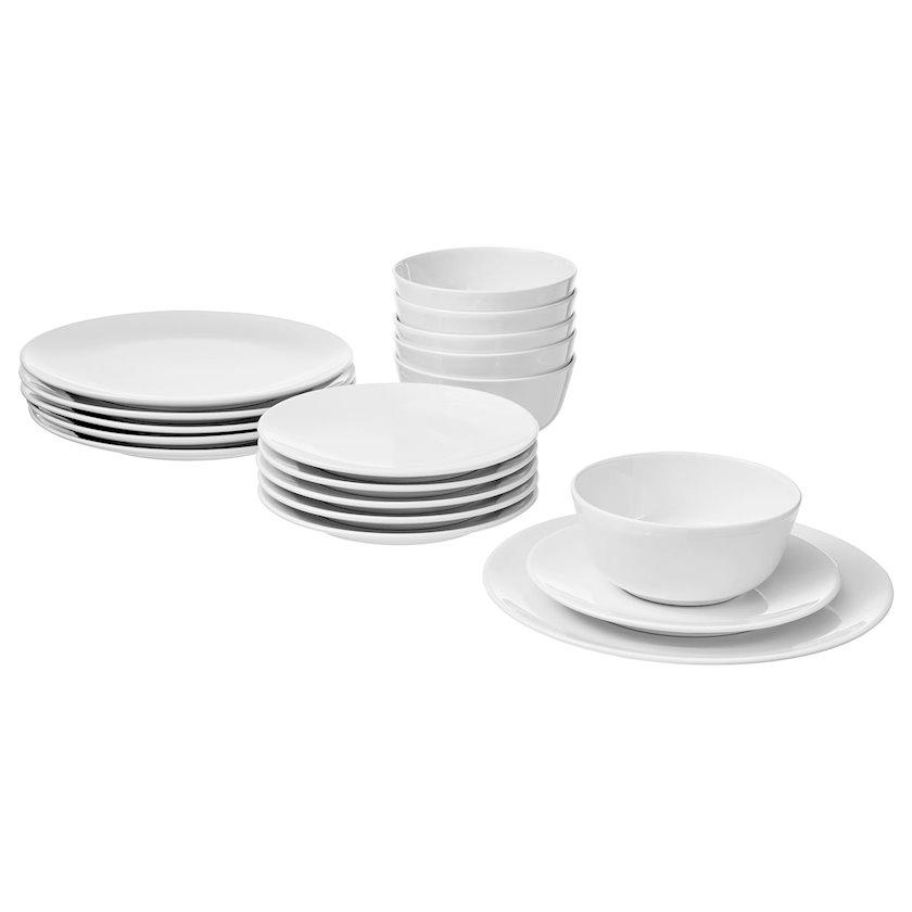 Serviz Ikea Flitighet, keramika, ağ, 18 əşya