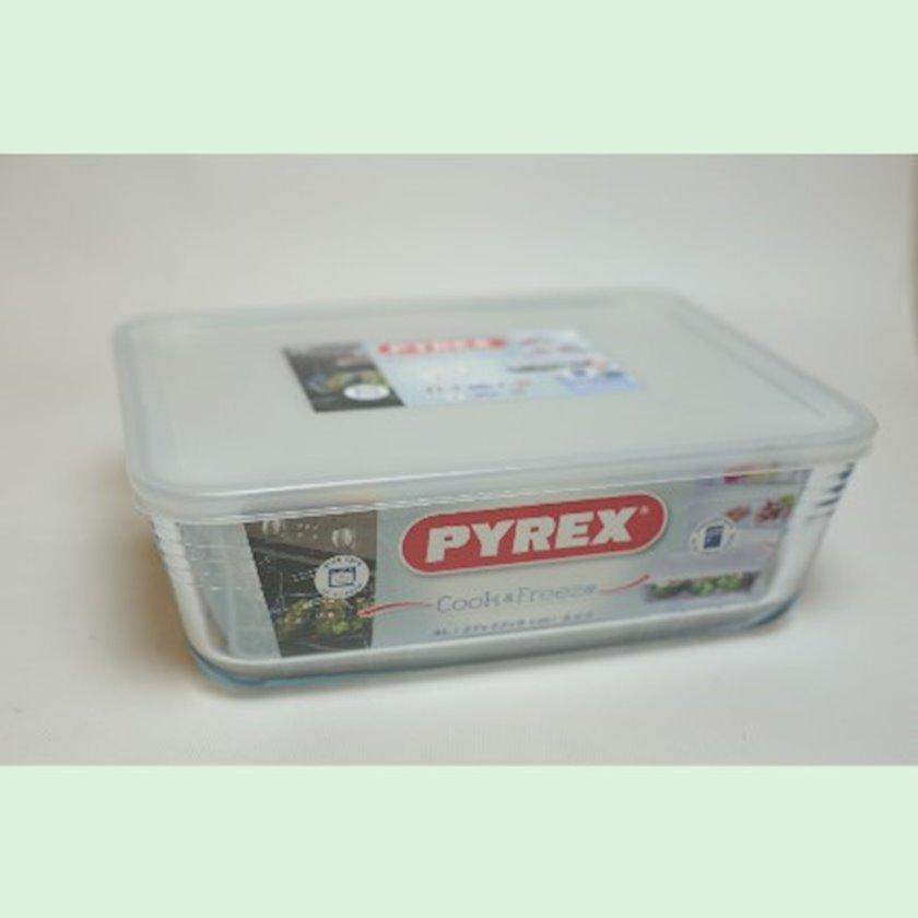 Bişirmə üçün qab Pyrex 244P Box, şüşə, 4 l, 27x23 sm