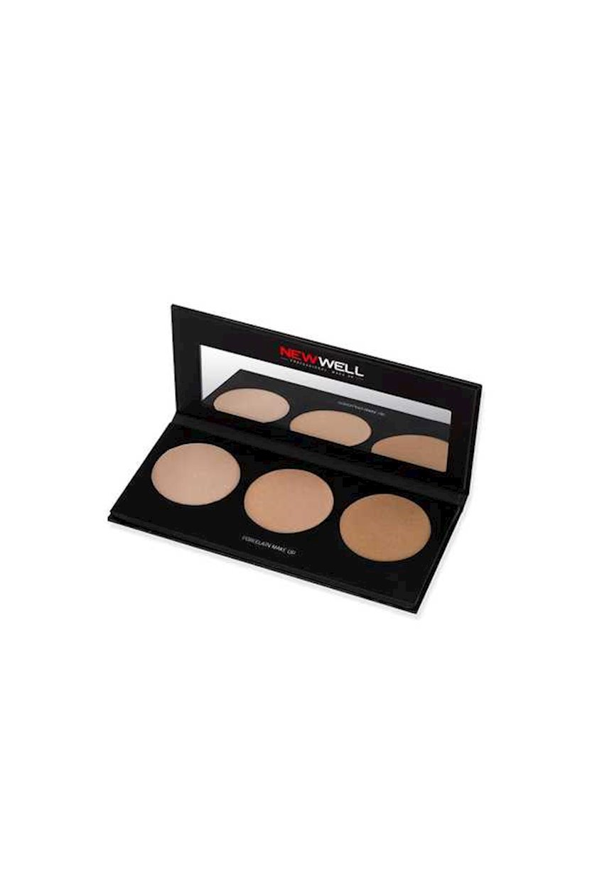 Xaylayter New Well New Well Derma Cover Highlighter Palette 3 Colours