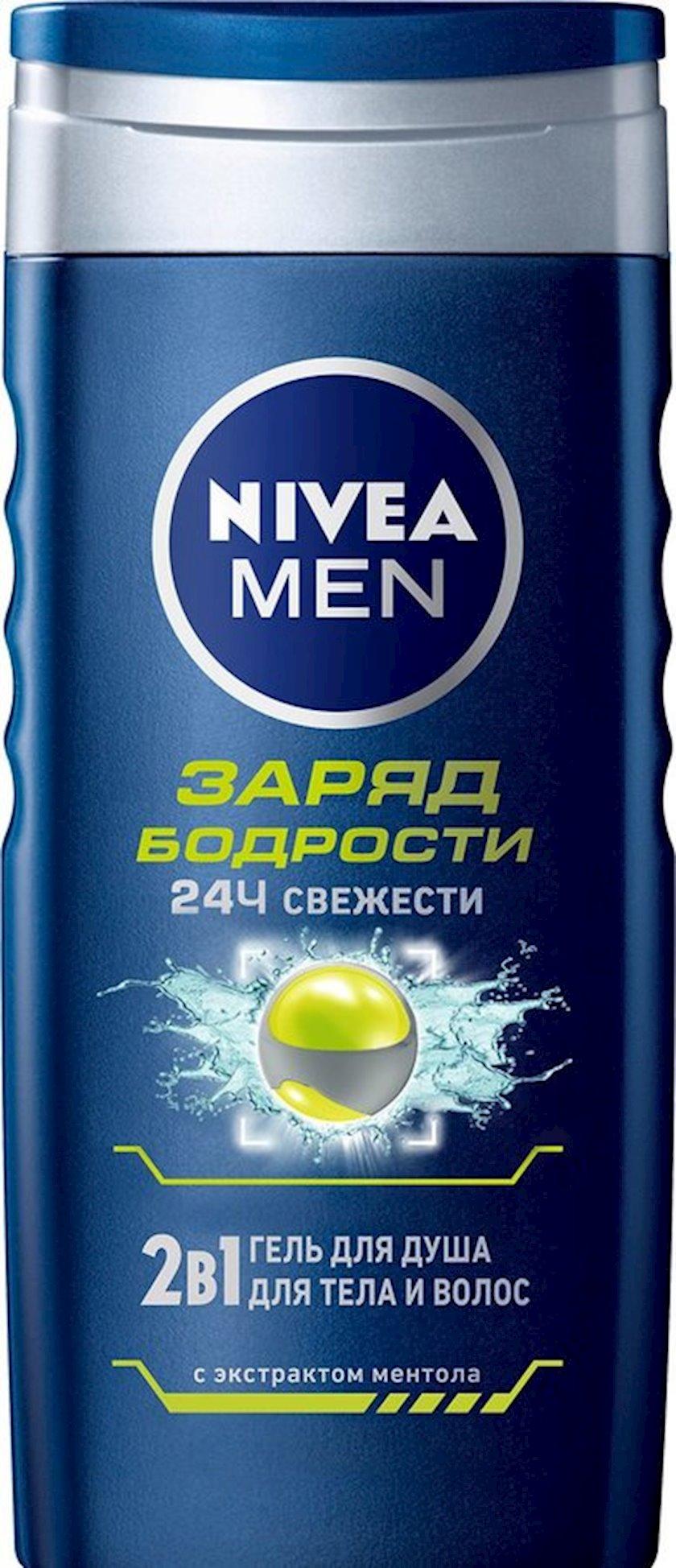 Duş üçün gel Nivea Men Gümrahlıq enerjisi 250 ml