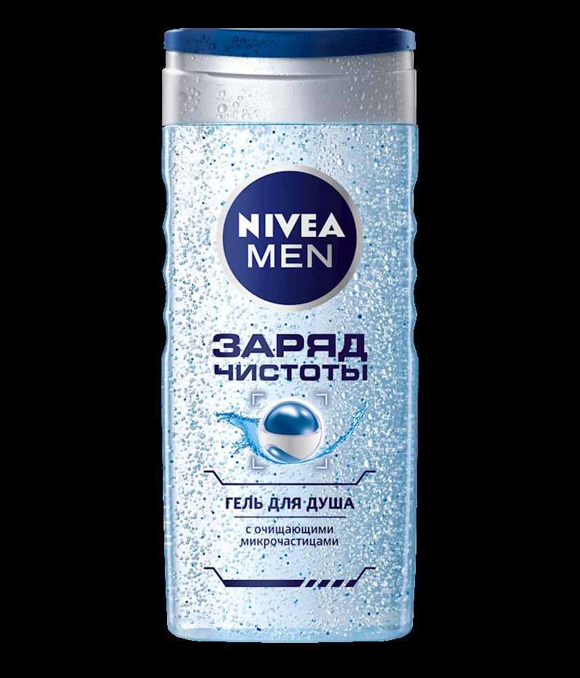 Duş üçün gel Nivea Men Təmzilik enerjisi təmizləyici mikrohissəciklərlə 250 ml