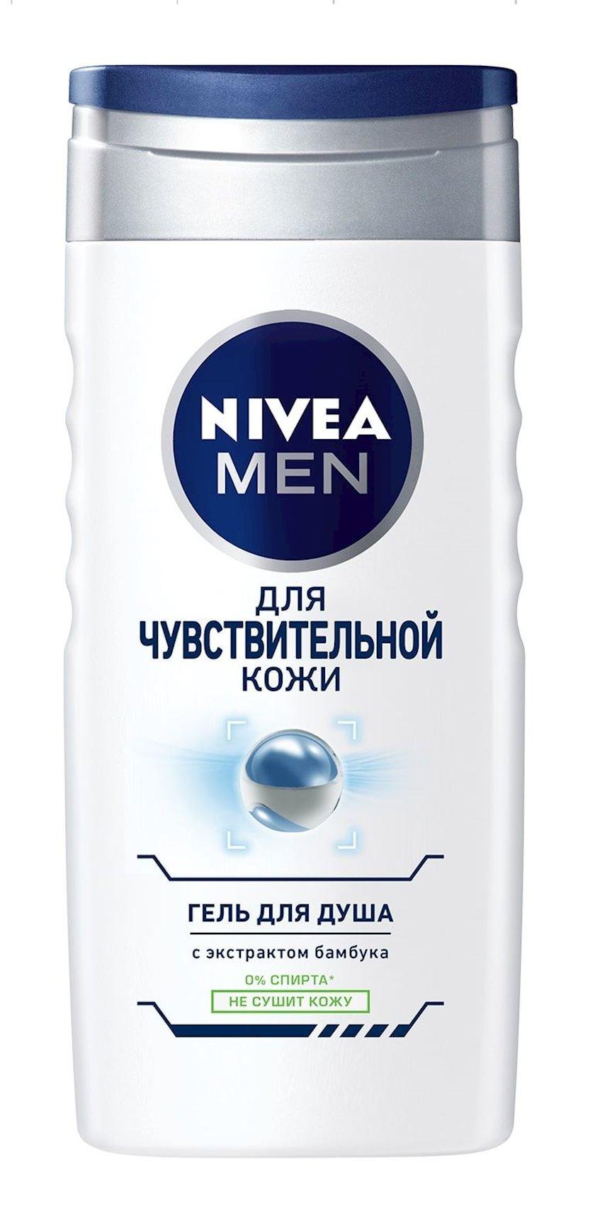 Duş üçün gel Nivea həssas dəri üçün, kişilər üçün 250 ml
