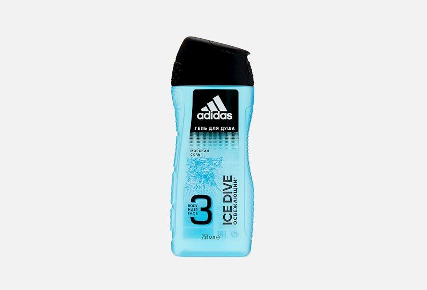 Duş üçün gel  Adidas Ice dive 3-ü 1-də 250ml
