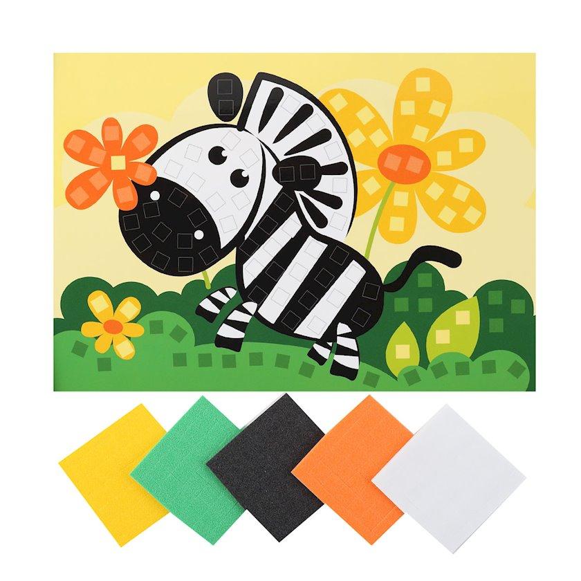 Yumşaq mozaika Lori Kiçik dəst Zebra Кэ-002