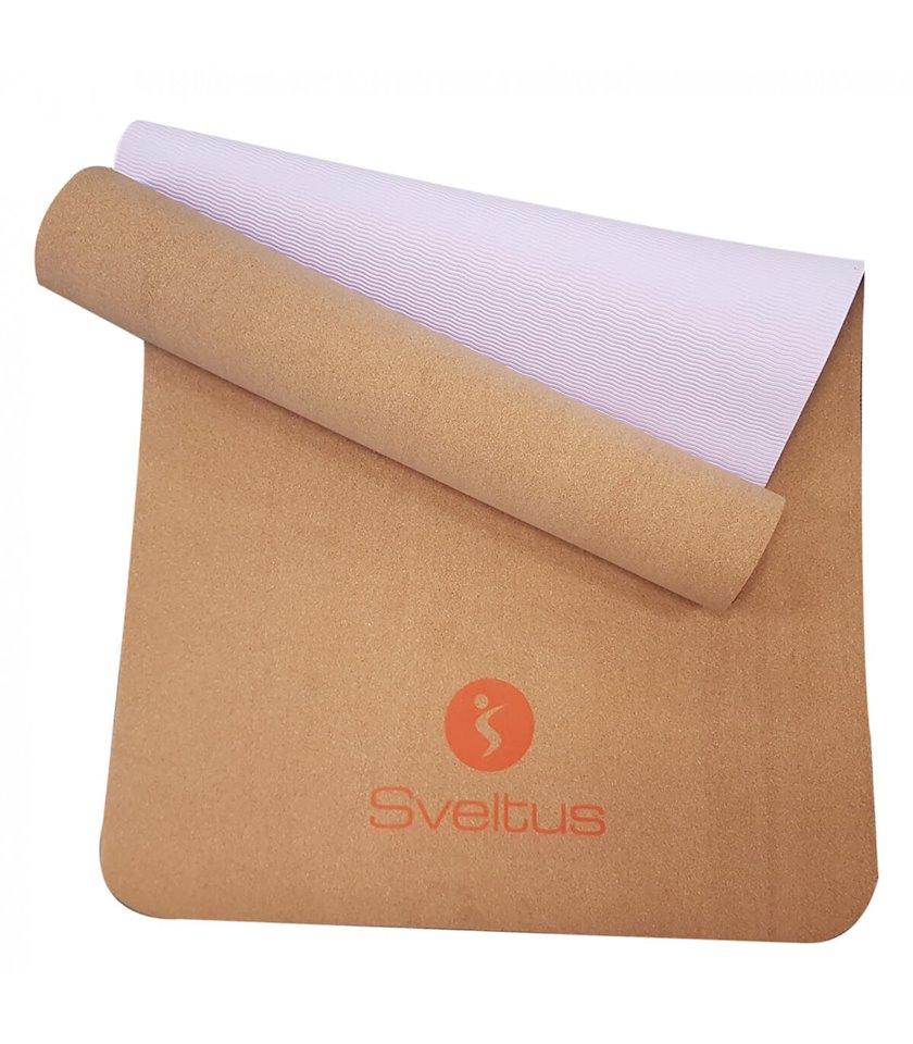 Yoqa üçün xalça Sveltus Yoga, Material:TPE, Uzunluğu 183sm x Eni 61sm x Qalınlığı 0.5sm, qəhvəyi