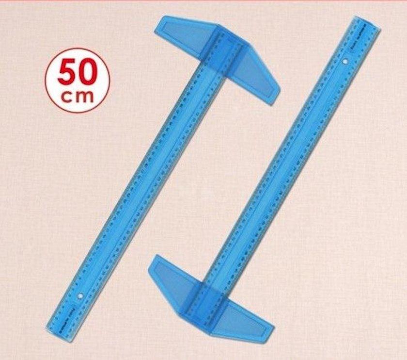 T-formalı xətkeş Foska, 50 sm, mavi