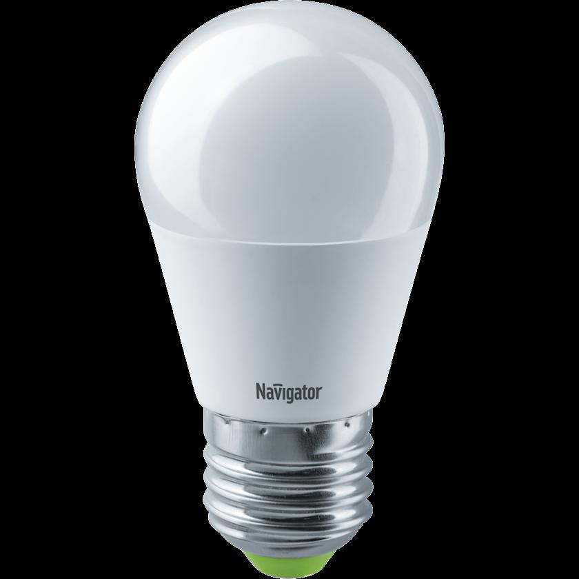 LED lampa Navigator NLL, E27, yumru, 8.5Vt, 4000K