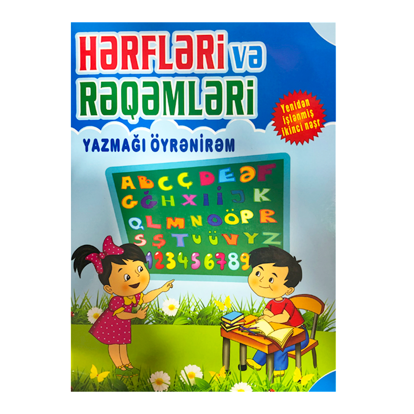 Kitab Hərfləri və rəqəmləri yazmağı öyrənirəm