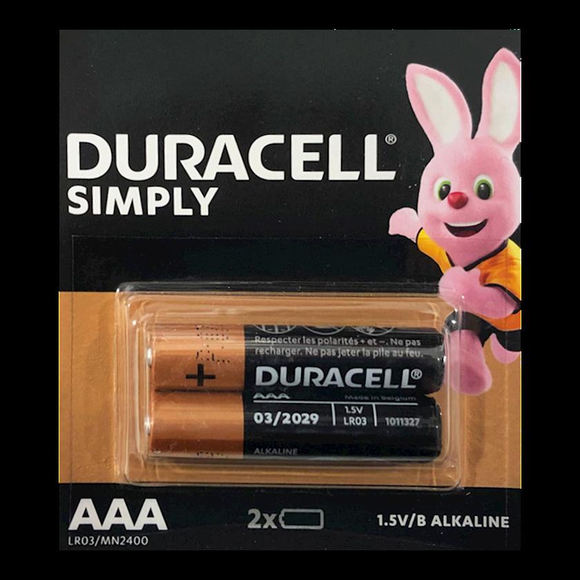 Batareya Duracell Simply АAA 1.5V 2 əd