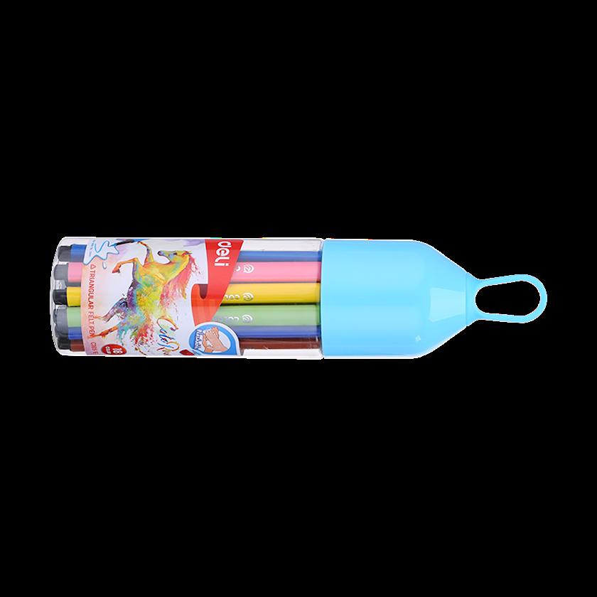 Yuyunan flomaster DELI Office ColoRun 18 rəng