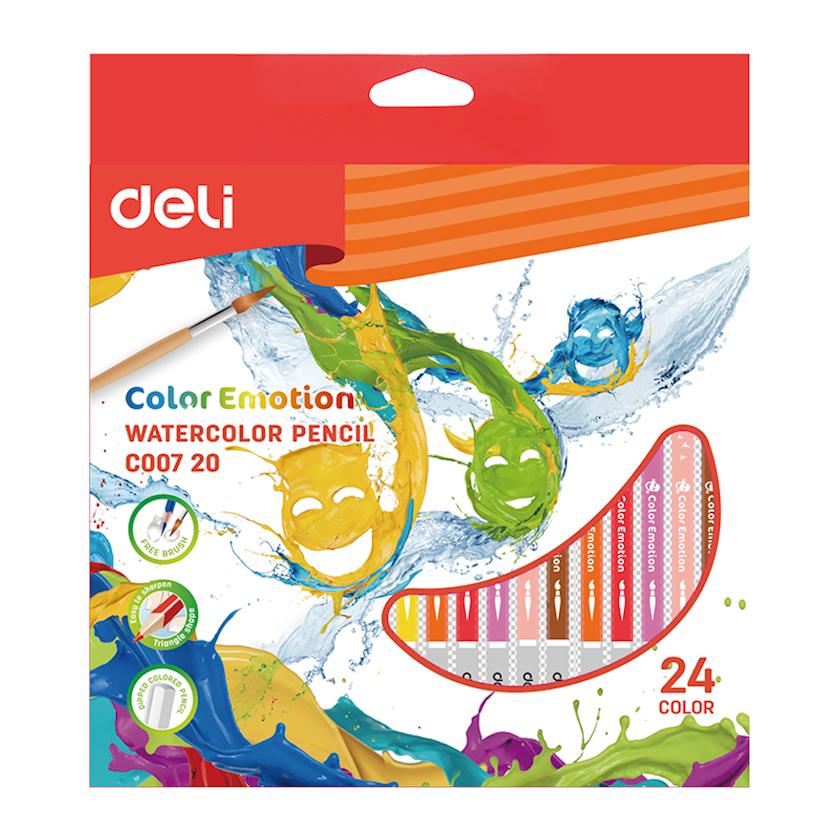 Rəngli karandaşlar DELI Office Color Emotion (C007 20), 24 ədəd
