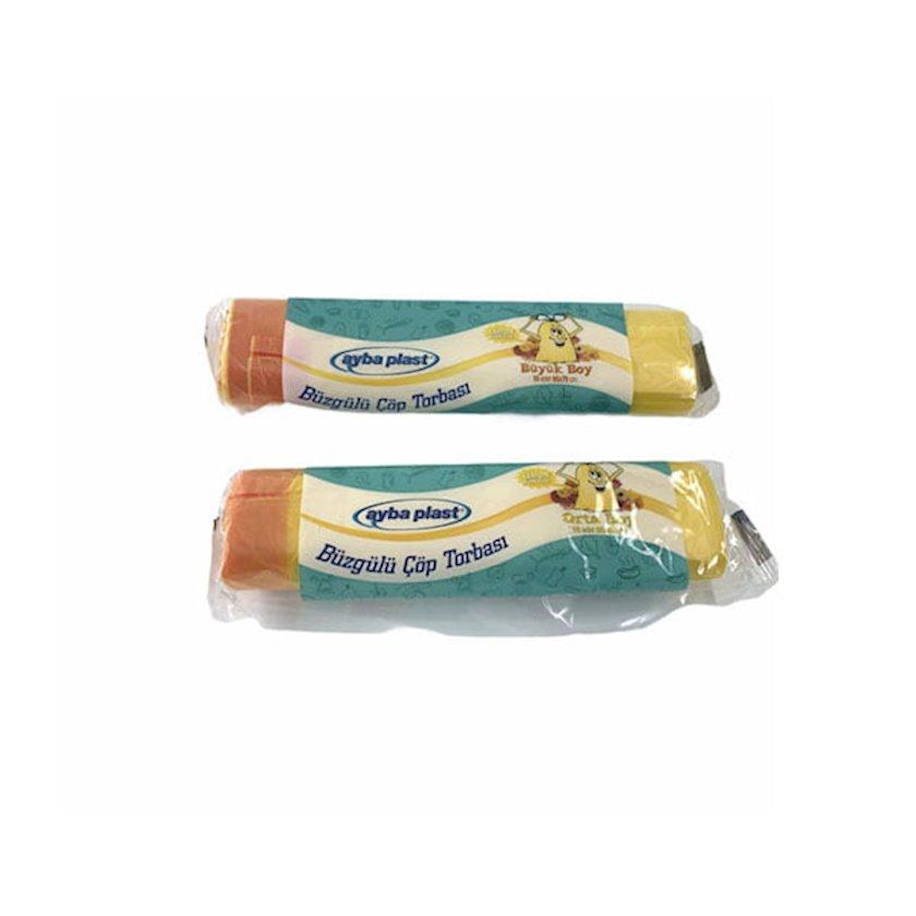 Zibil torbaları Ayba Plast limon ətiri ilə, 65x70 sm, 25 ədəd