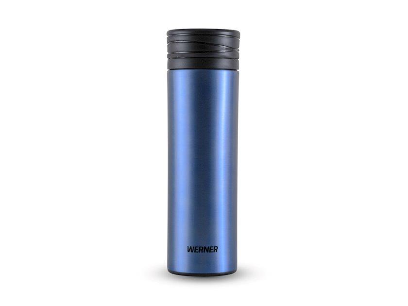 Vakuum termos Werner Viano 50182, göy, paslanmayan polad/plastik, 500 ml