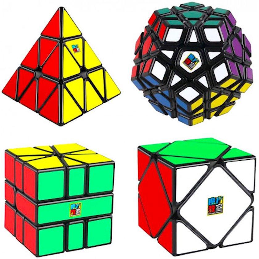 Kubik rubik dəsti Moyu Speed Cube Set, 4 əd, plastik, rəngbərəng