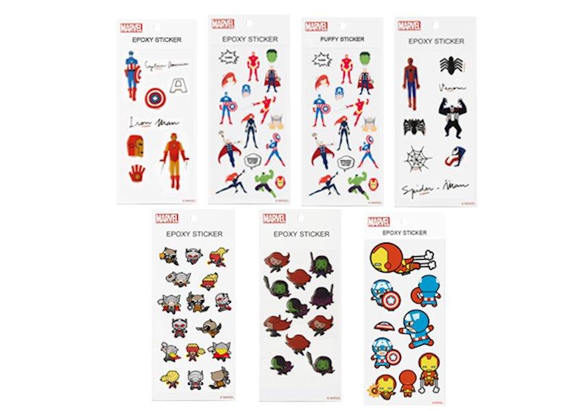Yapışdırmalar Miniso Marvel Collection Sticker Set B