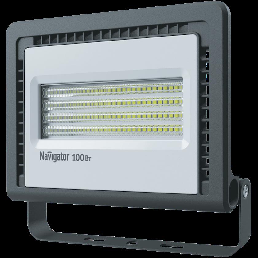 LED projektor Navigator NFL-01, 100Vt, IP65, 241x49x220mm, qara rəng