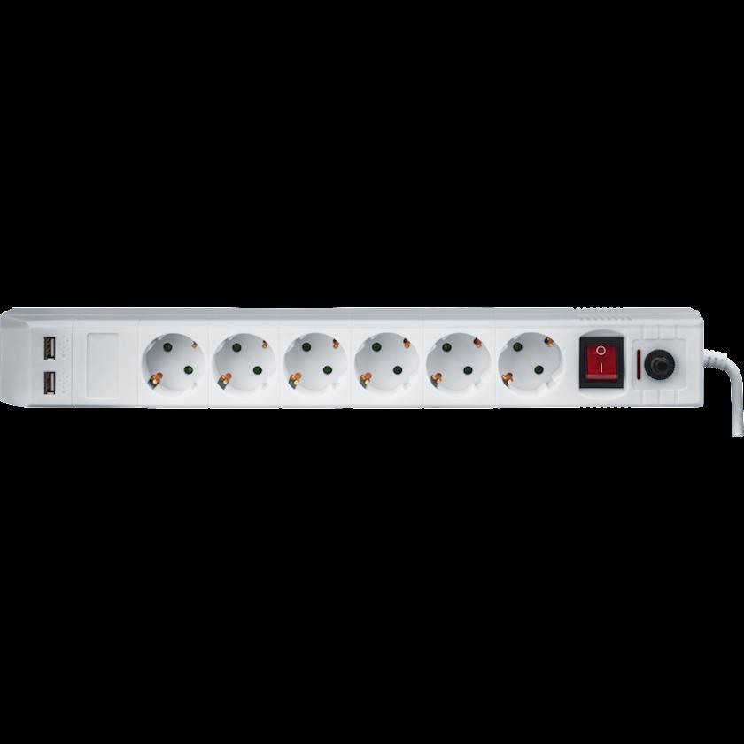 Şəbəkə filtri Navigator NSP-USB-06-180-ESC-3x1
