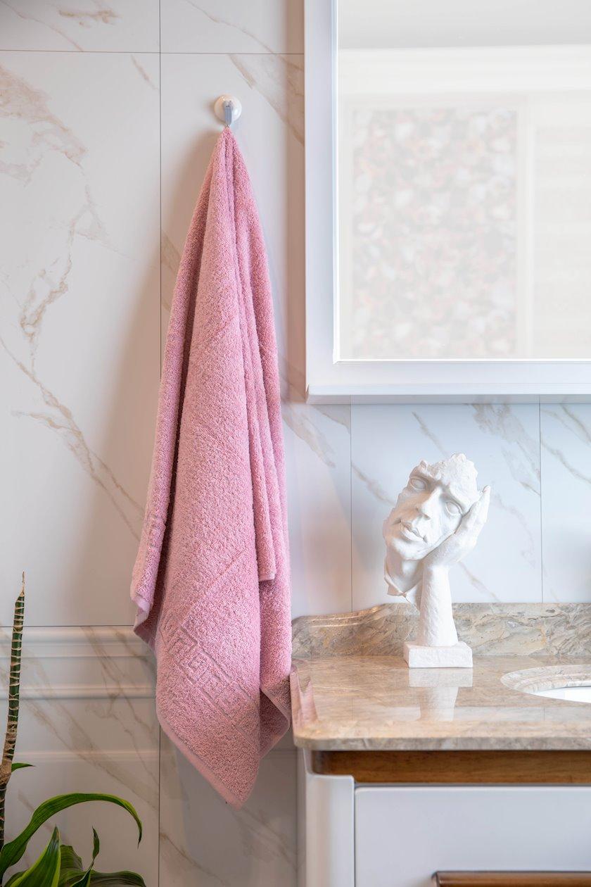 Bədən dəsmalı Chameleon Parfait Pink, pambıq, 70x140 sm, çəhrayı
