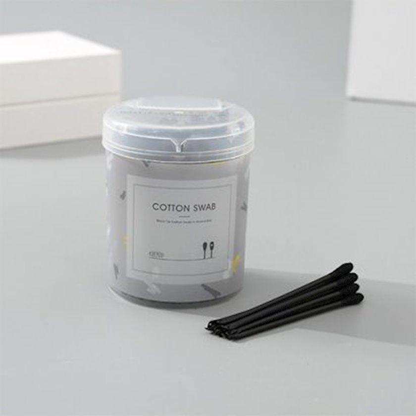 Pambıq çöpləri Ximi Vogue Black Tip Cotton Swab, qara, 120 ədəd