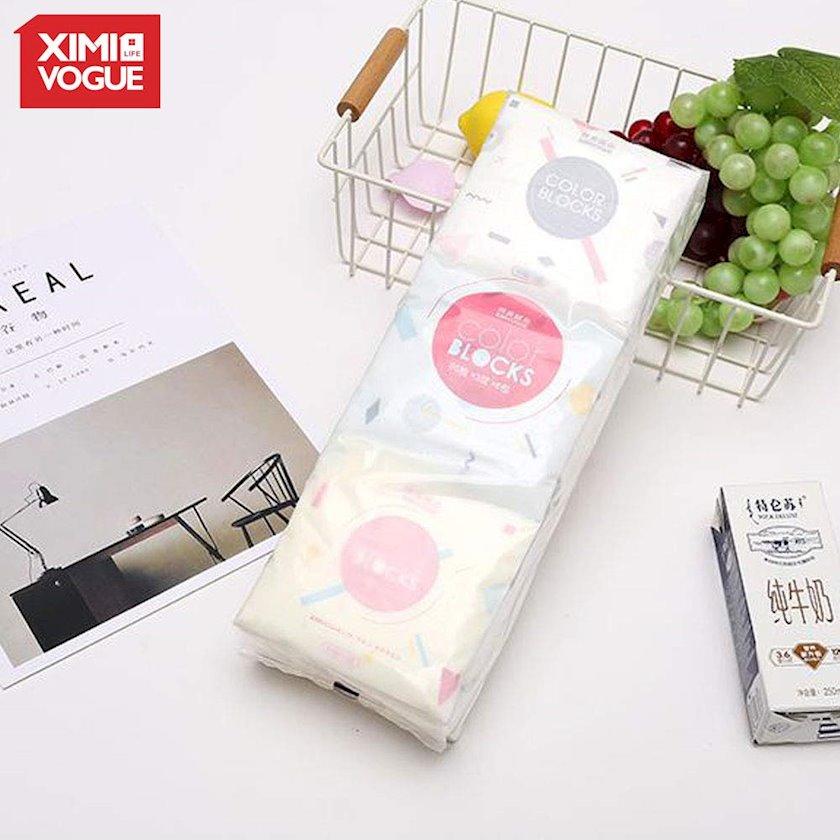 Pambıq diskləri Ximi Vogue Colorful Geometry Q Pack Tissue 25x10x5 sm