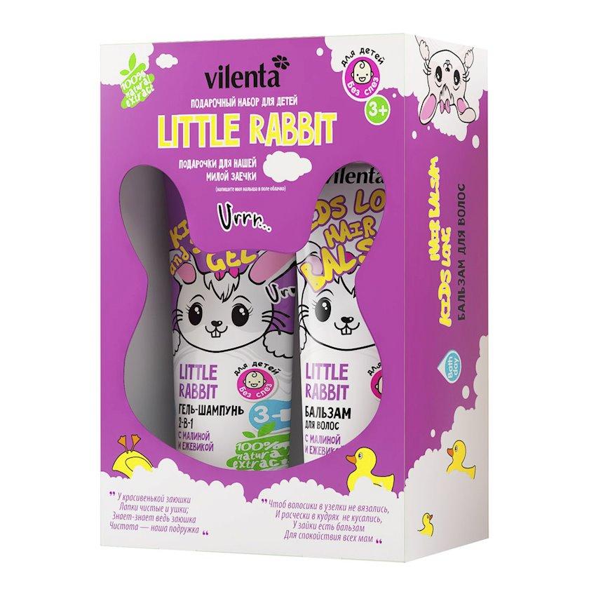 Hədiyyə dəsti Vilenta Little Rabbit Gel-şampun + Saç balzamı