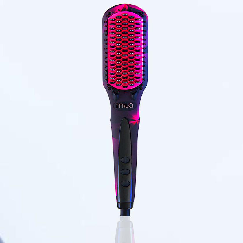 Saç düzləşdirici daraq Mila Anion Hair Care Electric Hair Straightening Brush Diamond Style