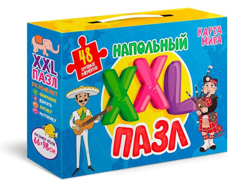 """Döşəmə XXL pazl """"Проф-пресс"""". Dünya xəritəsi"""
