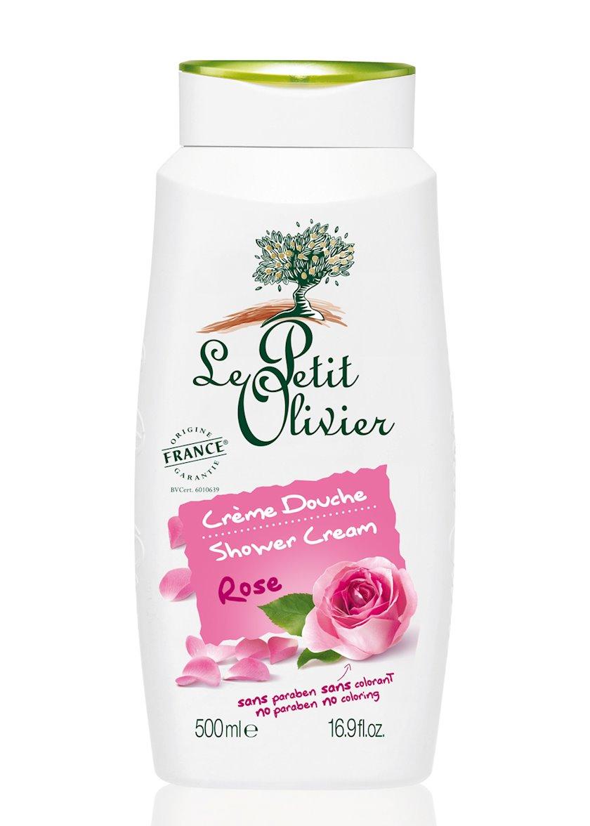 Ekstra yumşaq duş kremi Le Petit Olivier Rose,500 ml