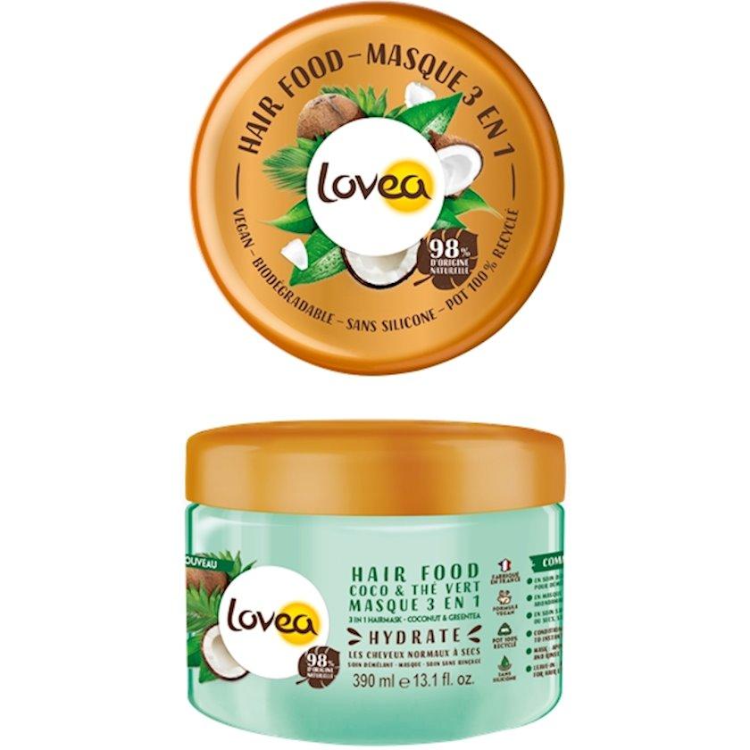 Saç maskası 3-ü 1-də Lovea Coconut & Green Tea 390ml