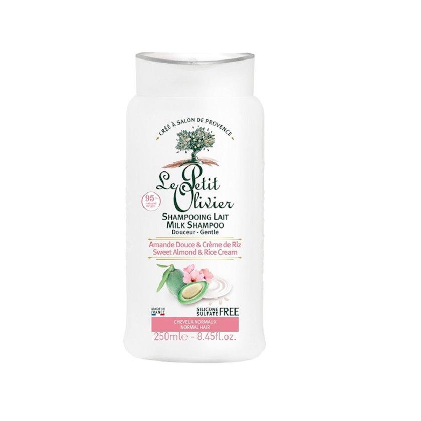 Şampun Le Petit Olivier Milk Shampoo badam südü və düyü kremi ilə,Normal saçlar üçün,250 ml