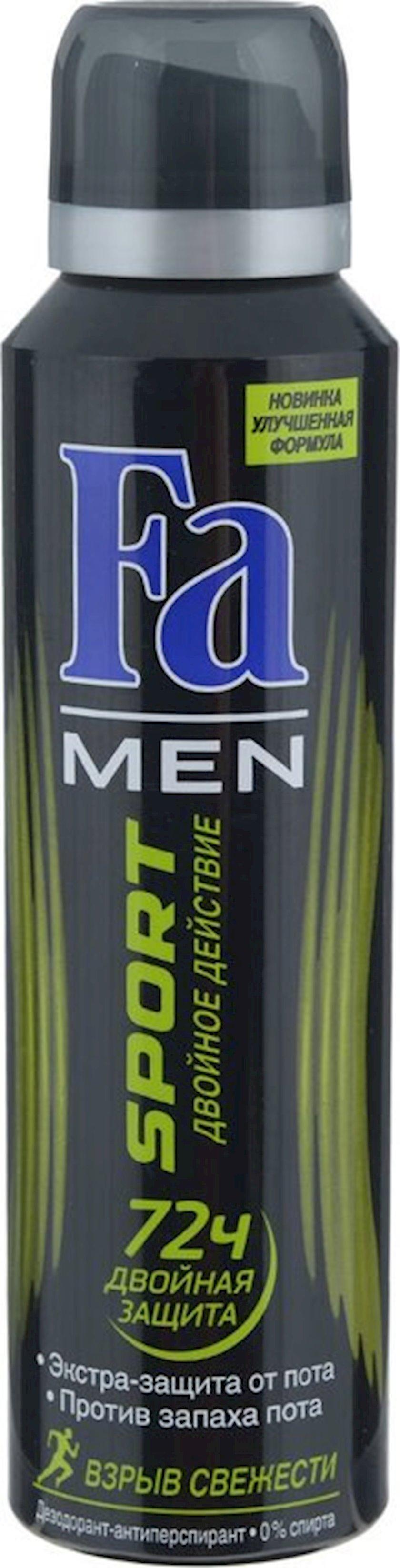 Dezodorant-aerozol Fa Men Sport Təravətin partlayışı