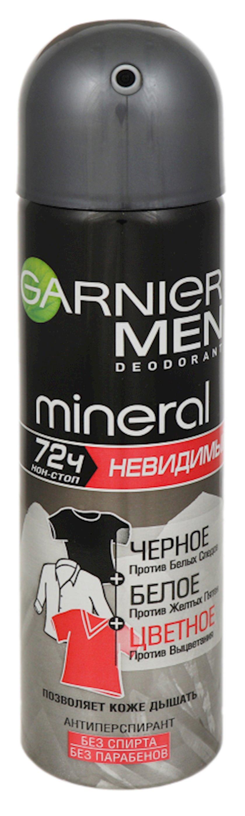 Dezodorant-antiperspirant Garnier Men Mineral Qara, ağ, rəngli, 150 ml