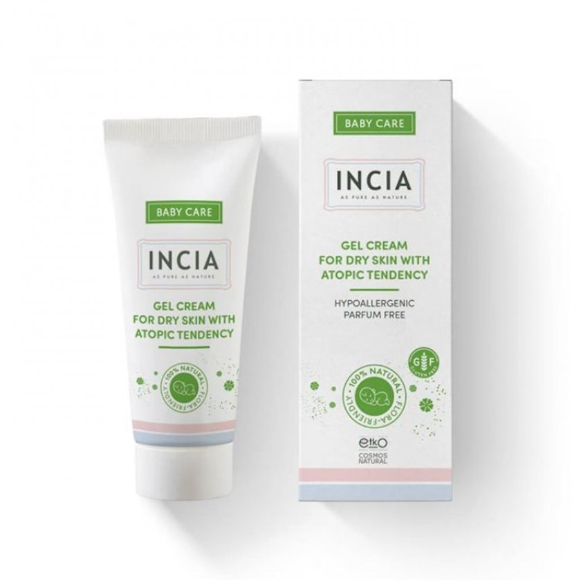 Uşaq gel-kremi Incia Baby Care Gel Cream for Dry Skin with Atopic Tendency 50 мл-крем Incia for Dry skin with Atopic Tendency 50 ml