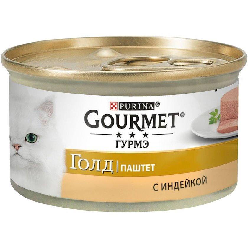Konservləşdirilmiş yem Gourmet hindquşu ilə paştet, 85q