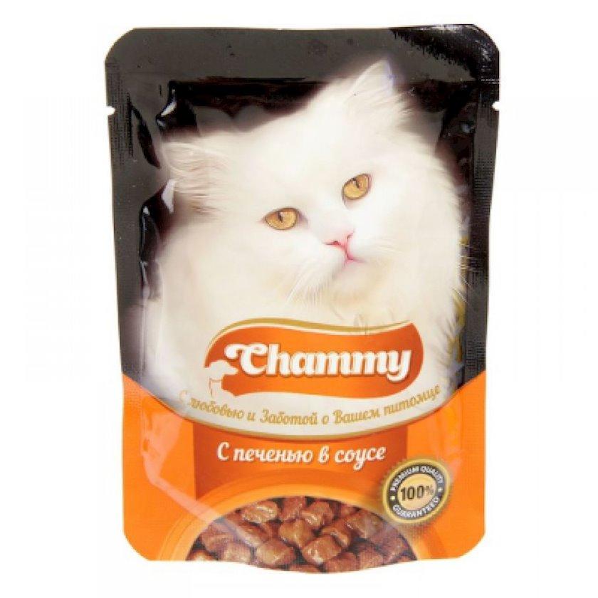Pişiklər üçün sousda qaraciyər ilə nəm yem Chammy , 85q (2183_2851)
