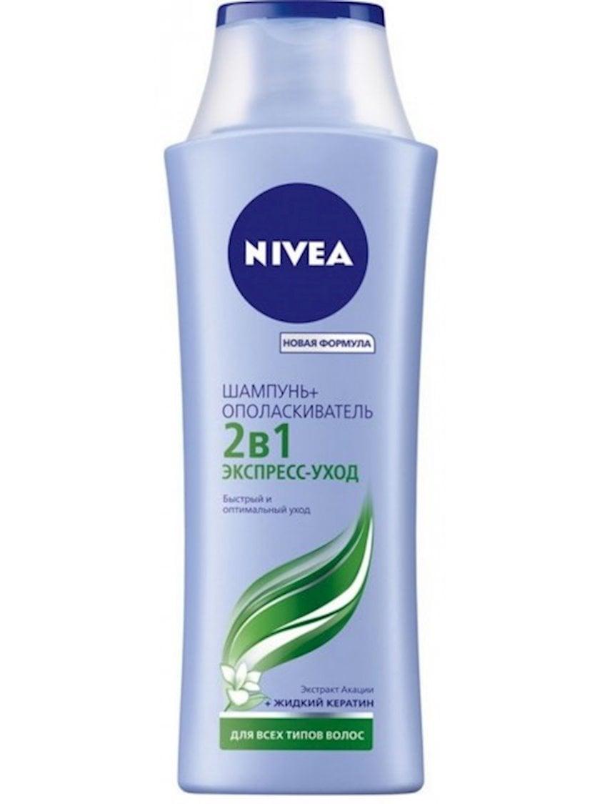 Şampun və Balzam  Nivea 2-si 1-də  saçların bütün tipləri üçün ekspress-qulluq 250 ml