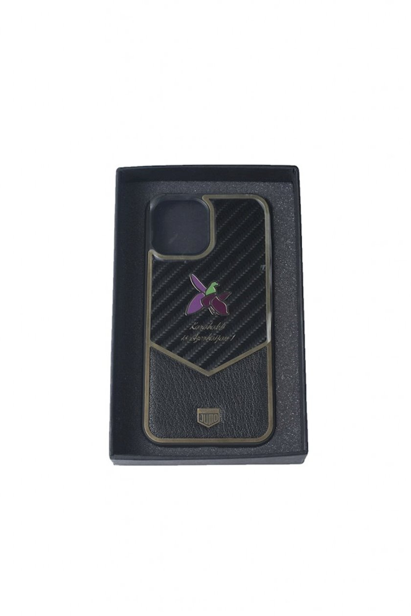 Çexol Jumo Carbon Leather Case Apple Iphone 12 Pro üçün Khari-Bulbul