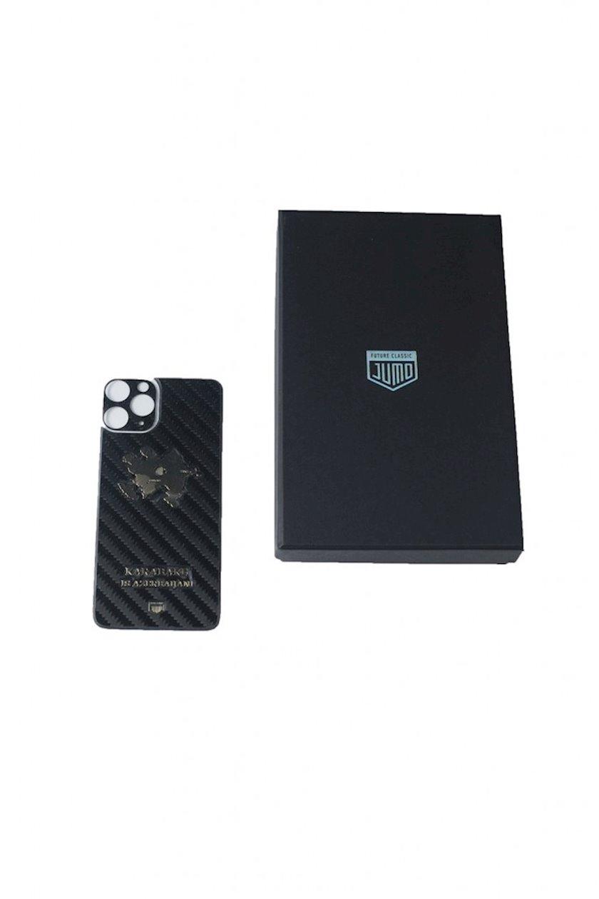 Çexol Jumo Carbon Leather Stiker Apple Iphone 11 Pro Max üçün Karabakh