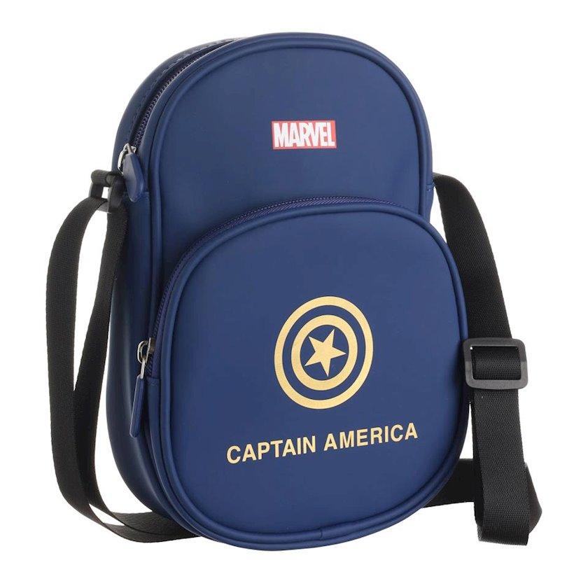 Kişi üçün kross-bodi çantası Miniso Marvel Captain America 178896 Göy