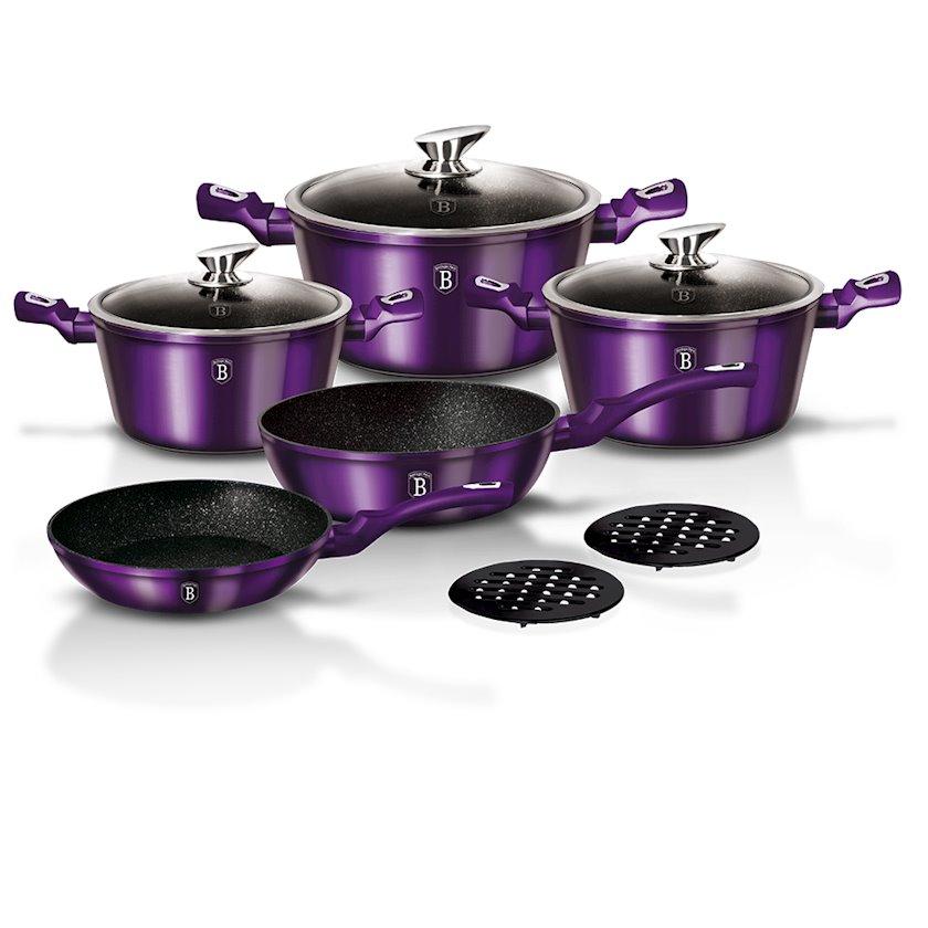 Qazan dəsti Berlinger Haus Royal Purple BH1661N-2, bənövşəyi, 10 parça