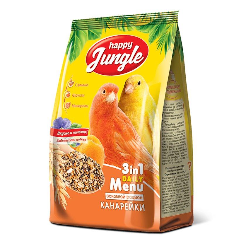 Quru yem Happy Jungle Əsas rasion, sarıbülbüllər üçün, 500 q