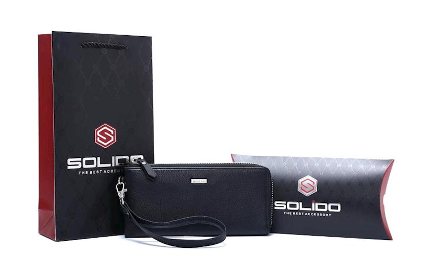 Dəri borsetkası Solido BE002-2-3701, qara
