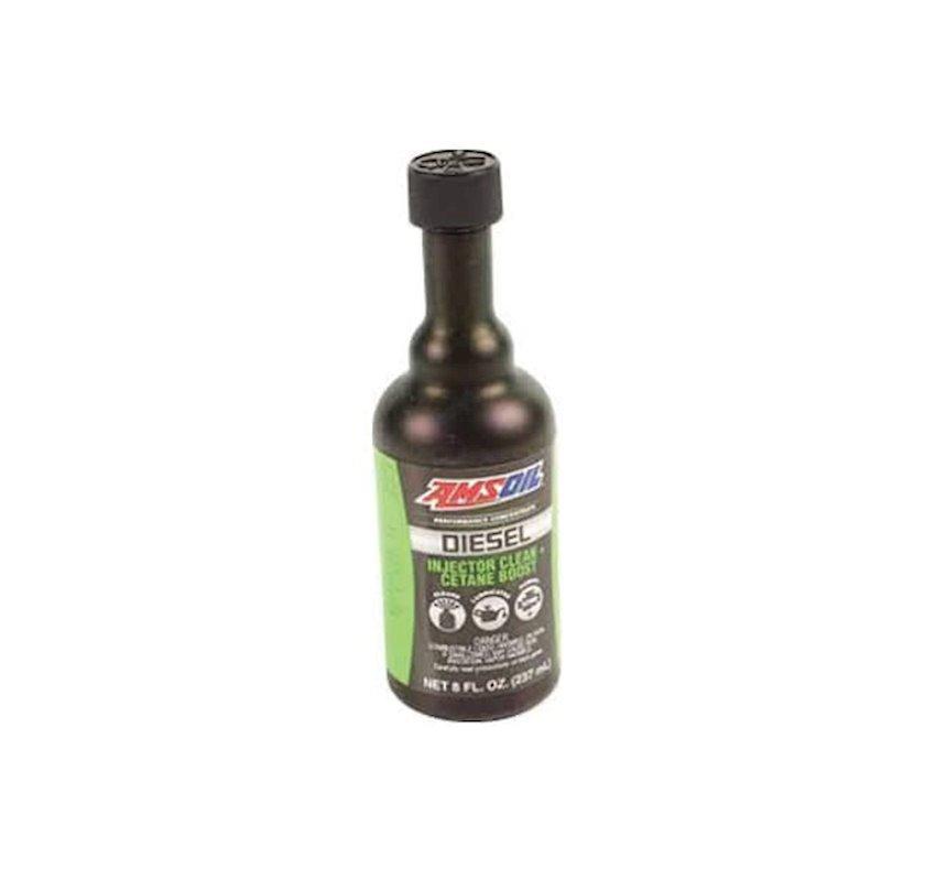 Yuyucu maye avtomobil üçün Amsoil Diesel Injector Clean + Cetane Boost 8 oz 236 ml