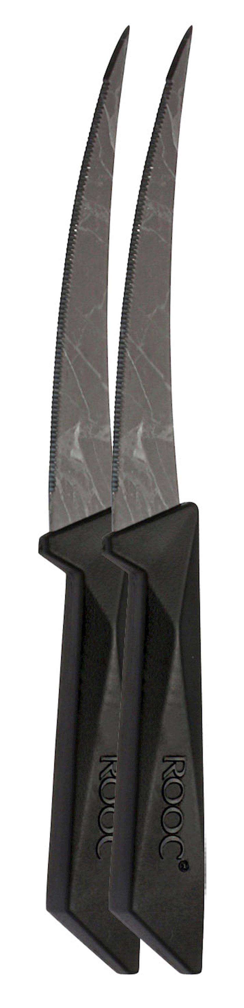 Bıçaq Rooc Marble pattern dual knife 4'',Mərmər naxışlı,Qara,19 sm