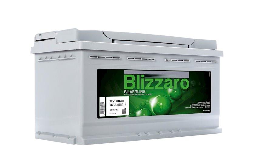 Avtomobil akkumulyatoru Blizzaro Silverline 88Ah, R+, 760A, (EN)