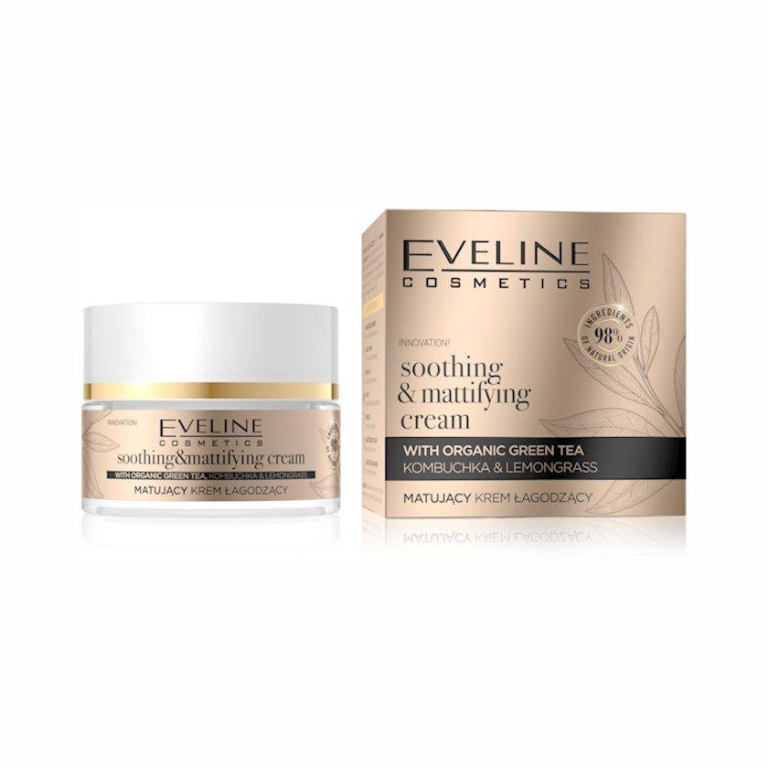 Matlaşdırıcı sakitləşdirici üz kremi Eveline Organic Gold 50 ml
