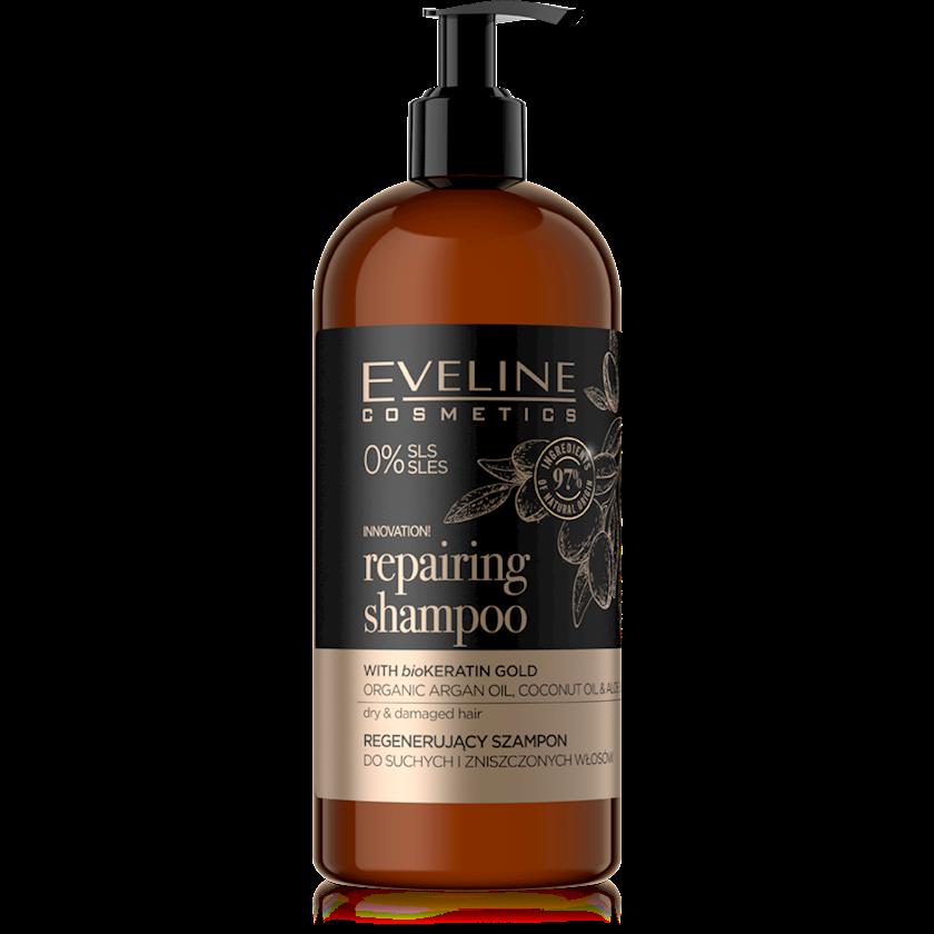 Bərpaedici şampun quru və zədələnmiş saçlar üçün Eveline Organic Gold 500 ml