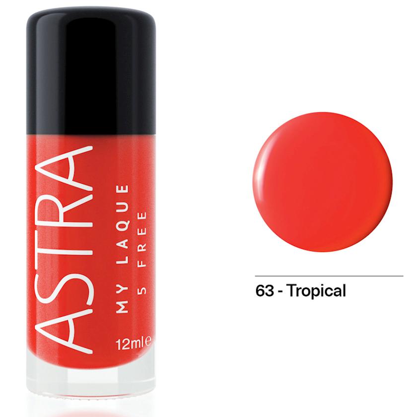 Dırnaq üçün lak Astra Make-up My Laque 5 Free 63 Tropical